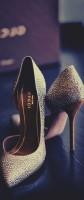 krem stiletto yüksek topuk sivri burunlu kadın ayakkabısı gucci