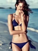 lacivert bağlamalı tarz bikini