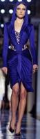 lacivert gece mavisi kısa abiye gece elbisesi versace