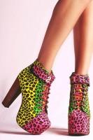 leopar desenli Jeffrey Campbell ayakkabı bot tarz kadınlar
