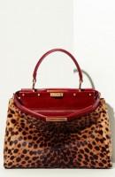leopar desenli kol çantası fendi