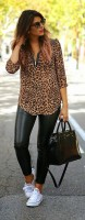 leopar-gömlek-kadın-tunik-dar-pantalon-deri-spor-ayakkabı