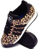 leopar siyah adidas kadın spor ayakkabı