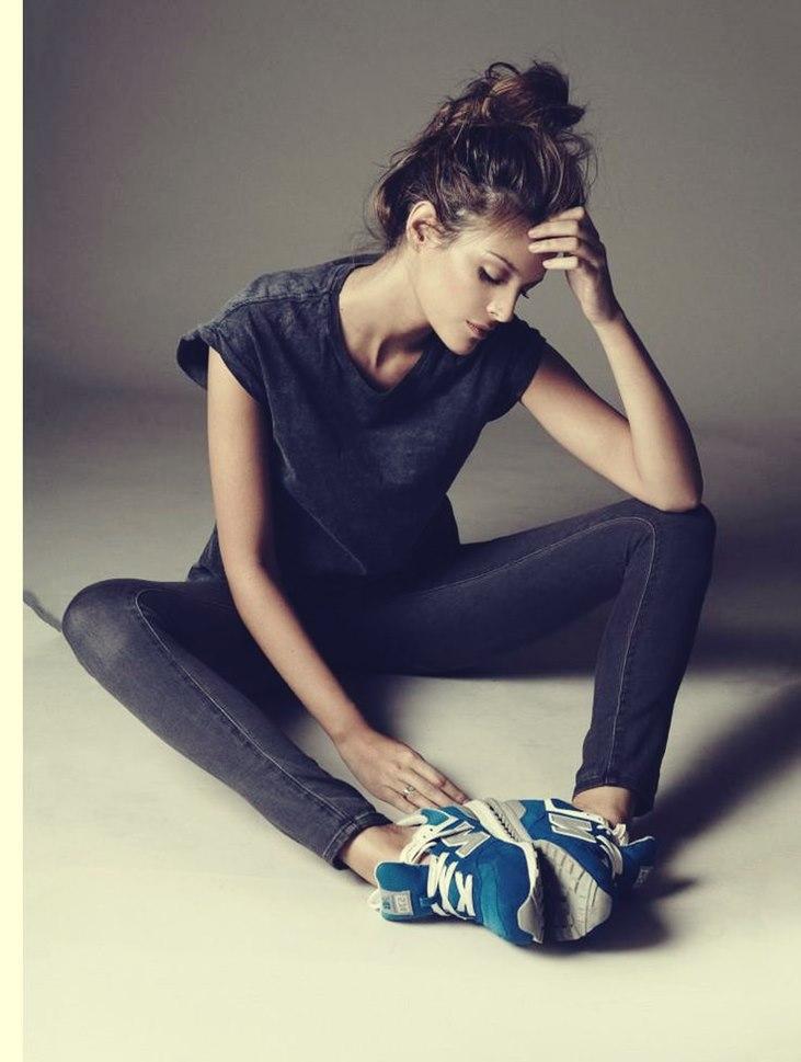 mavi beyaz kadın new blance spor ayakkabı