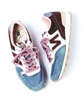 mavi bordo kadın new blance spor ayakkabı