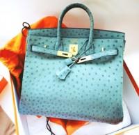 mavi deri hermes kol çantası
