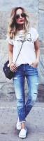 mavi yırtık kot jeans