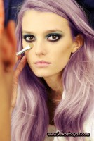 mor mat purple pastel saç renkleri