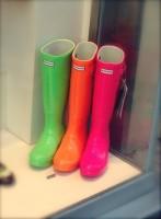 neon pembe turuncu yeşil hunter yağmur çizmesi bot kadın