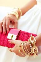 pembe cüzdan altın bilezik