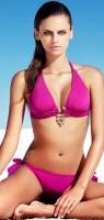 pembe fuşya taşlı bikini