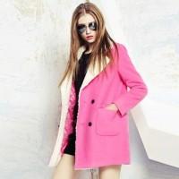 pembe kaban kadın palto ceket mont modası kadın