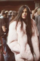 pembe pudra kadın kürk ceket mont kaban