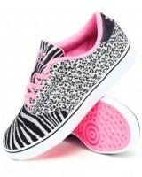pembe siyah beyaz desenli adidas spor ayakkabı