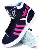 pembe siyah kadın adidas spor ayakkabı modeli