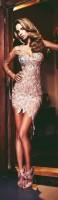 pudra pembe kısa gece abiye elbise