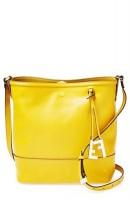 sarı fendi deri kol çantası