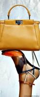 sarı hardal rengi kol çantası fendi