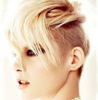 sarı kısa saç modelleri trend