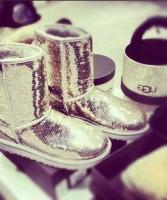sarı payetli ugg kadın bot boots ayakkabı çizme