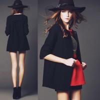 siyah şapka kırmızı etek mini uzun kaşe mont kaban palto ceket kadın