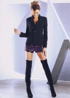 siyah blazer ceket kadın mini yılan timsah derisi şort diz üstü uzun kış çizme bot