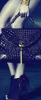 siyah deri büyük kol çantası versace