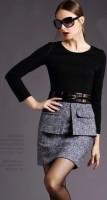 siyah gri kışlık kadın elbise trendleri
