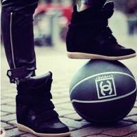 siyah isabel marant spor gizli topuk ayakkabı