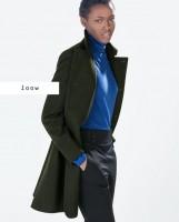 siyah kaban zara kadın mavi kazak triko