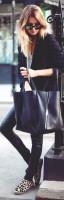 siyah kadın blazer ceket çanta dar pantalon
