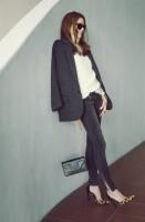 siyah kadın dar kot pantalon siyah ceket