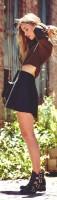 siyah kadın mini etek kısa bot çizme kısa kazak