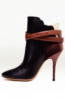 siyah kahverengi kısa topuklu bot
