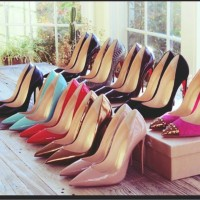 siyah krem taba mavi christian louboutin yüksek topuklu ayakkabı kadın