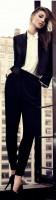 siyah kumaş pantolon blazer ceket beyaz gömlek mango