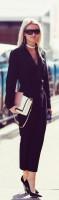 siyah kumaş pantolon blazer ceket stiletto ayakkabı kombini
