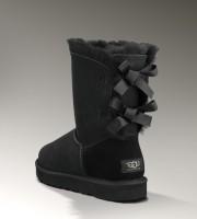 siyah kurdeleli ugg kadın bot boots kış