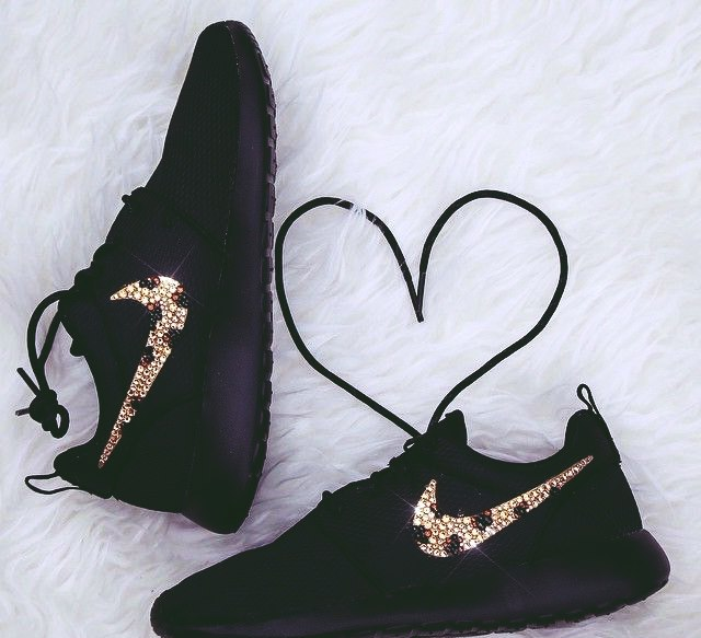 siyah leopar spor ayakkabı nike kadın
