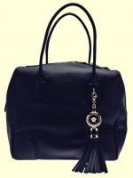 siyah mat deri kol çantası versace