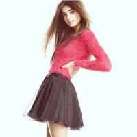 siyah mini etek kadın kırmızı triko moda şık tarz
