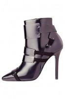 siyah rugan topuklu kısa bot