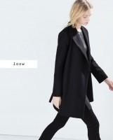 siyah uzun kaşe mont kaban ceket kadın