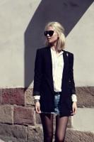 siyah uzun kadın blazer ceket