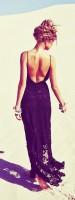 siyah uzun yazlık elbise