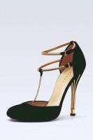 siyah yüksek topuklu kadın ayakkabısı gucci