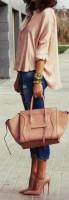 stiletto ayakkabı pudra gömlek kombini