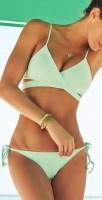 su yeşili ipli tarz bikini