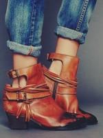 taba rengi deri kısa bot çizme