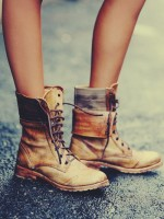 taba rengi eskitme kısa bot çizme